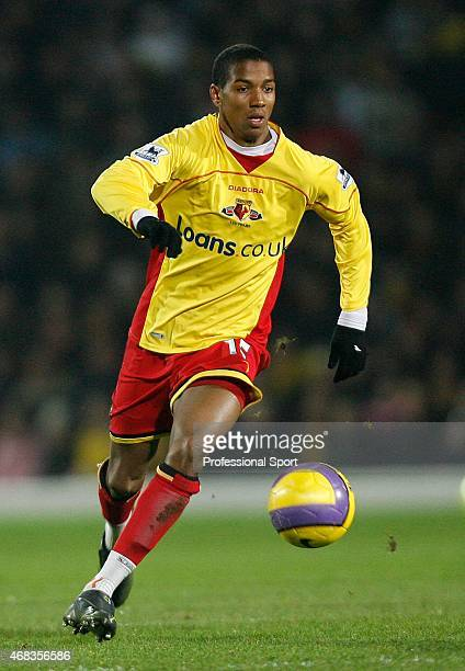 Ashley Young of Watford in action during the Barclays Premiership match between Watford and Arsenal at Vicarage Road on December 26 2006 in Watford...
