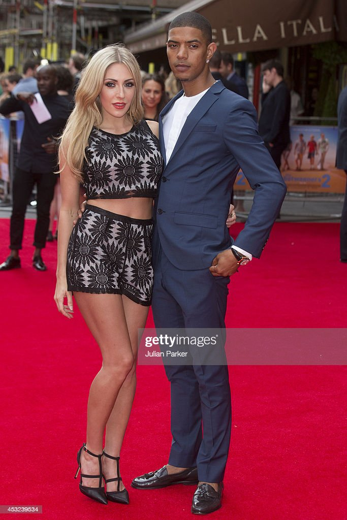 Ashley-Emma Havelin and Fazer attends the World Premiere of 'The Inbetweeners 2' at Vue West End on August 5, 2014 in London, England.