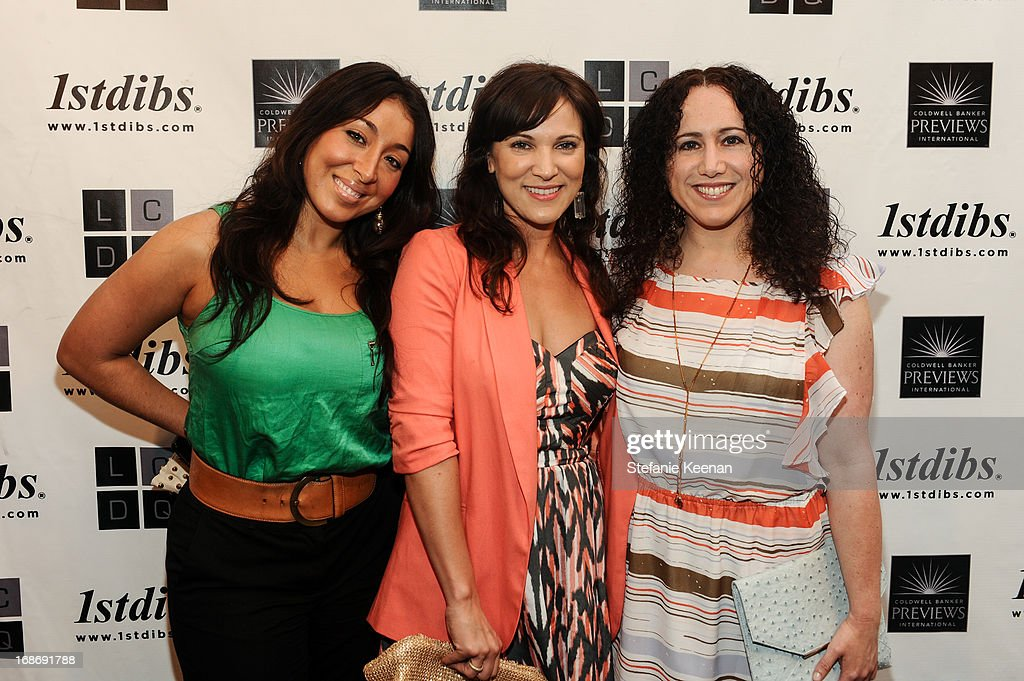 Ashlina Kaposta, Cassandra LaBelle and guest attend LCDQ La Cienega Design Quarter Legends 2013 Time Capsule Gala at Therien & Co on May 8, 2013 in Los Angeles, California.