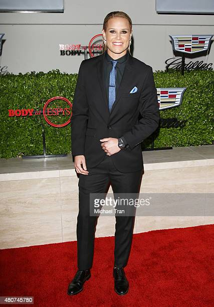 Ashlyn Harris arrives at the BODY at ESPYS PreParty held at Milk Studios on July 14 2015 in Los Angeles California