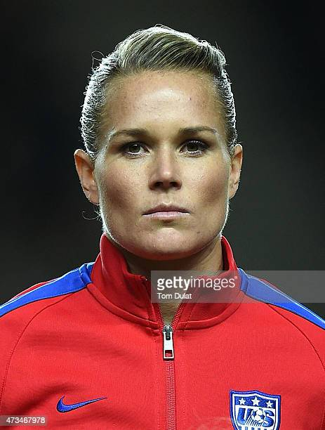 Ashlyn Harris of the United States looks on prior to the Women's Friendly International match between England and USA at Stadium mk on February 13...