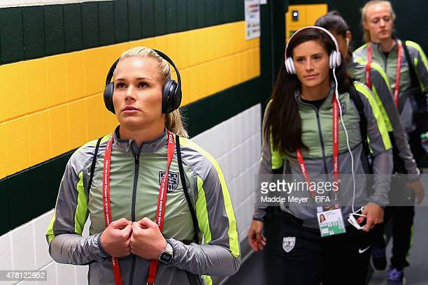 Ashlyn Harris of United States of America enters the locker room before the FIFA Women's World Cup Canada 2015 Round of 16 match between the United...