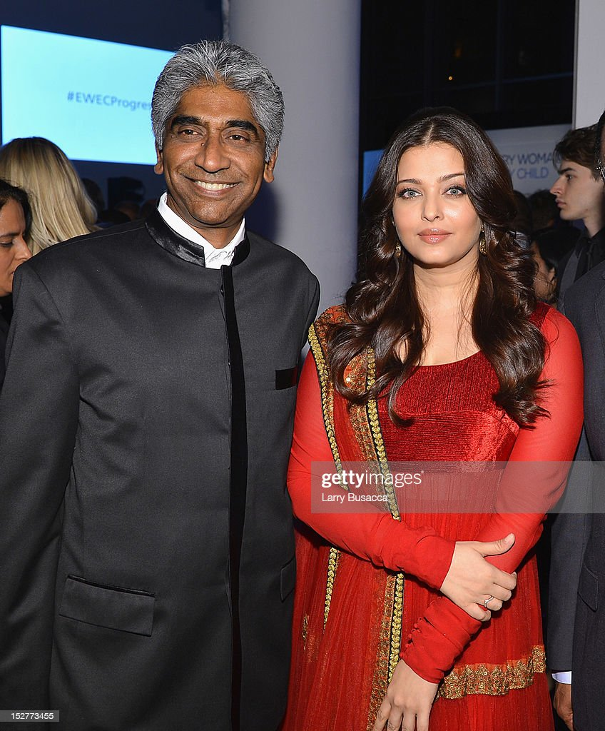 Ashok Amritraj and Aishwarya Rai attend the United Nations Every Woman Every Child Dinner 2012 on September 25, 2012 in New York, United States.