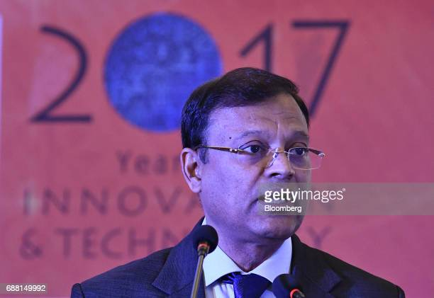B Ashok chairman of Indian Oil Corp speaks during a news conference in New Delhi India on Thursday May 25 2017 Indian Oils fourthquarter net income...