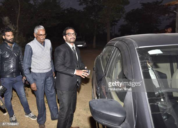 Ashok kumar`s lawyer Mohit Verma outside the Bhondsi Jail on November 22 2017 in Gurgaon India The Juvenile Justice Board in Gurgaon sent 16yearold...