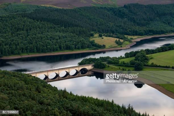 Ashopton viaduct, Ladybower reservoir, Derbyshire, England