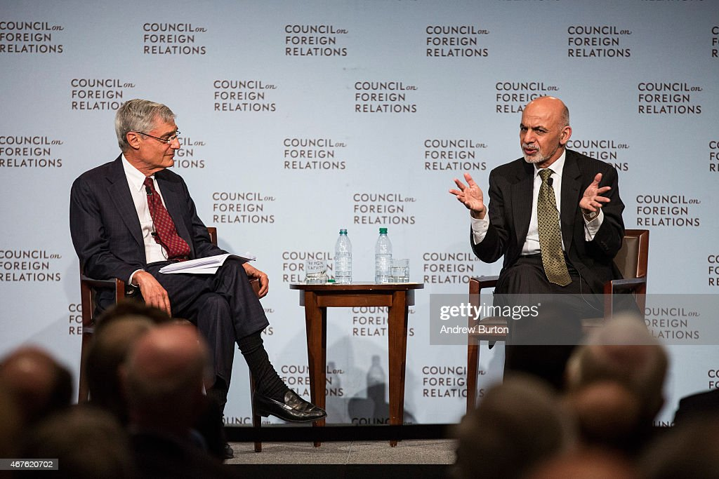President Of Afghanistan Ashraf Ghani Speaks At The Council On Foreign Relations In NYC