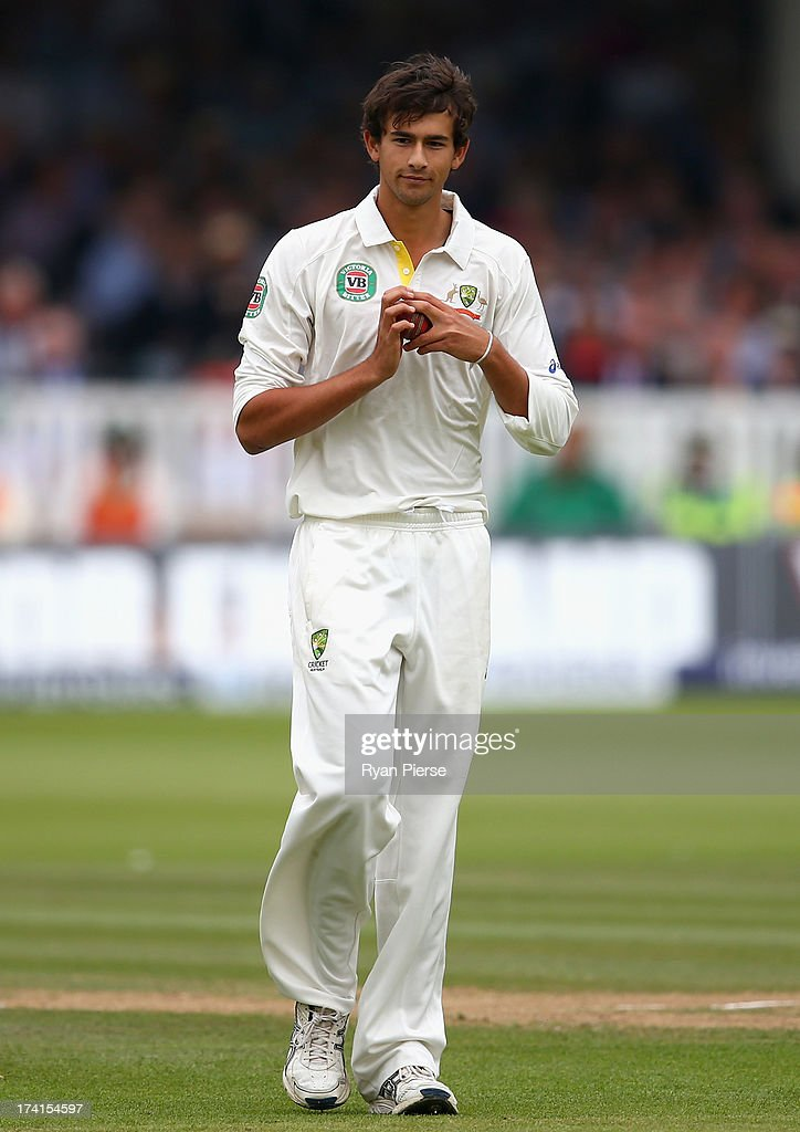 Ashton Agar of Australia looks on after dropping a catch during day four of the 2nd Investec Ashes Test match between England and Australia at Lord's Cricket Ground on July 21, 2013 in London, England.