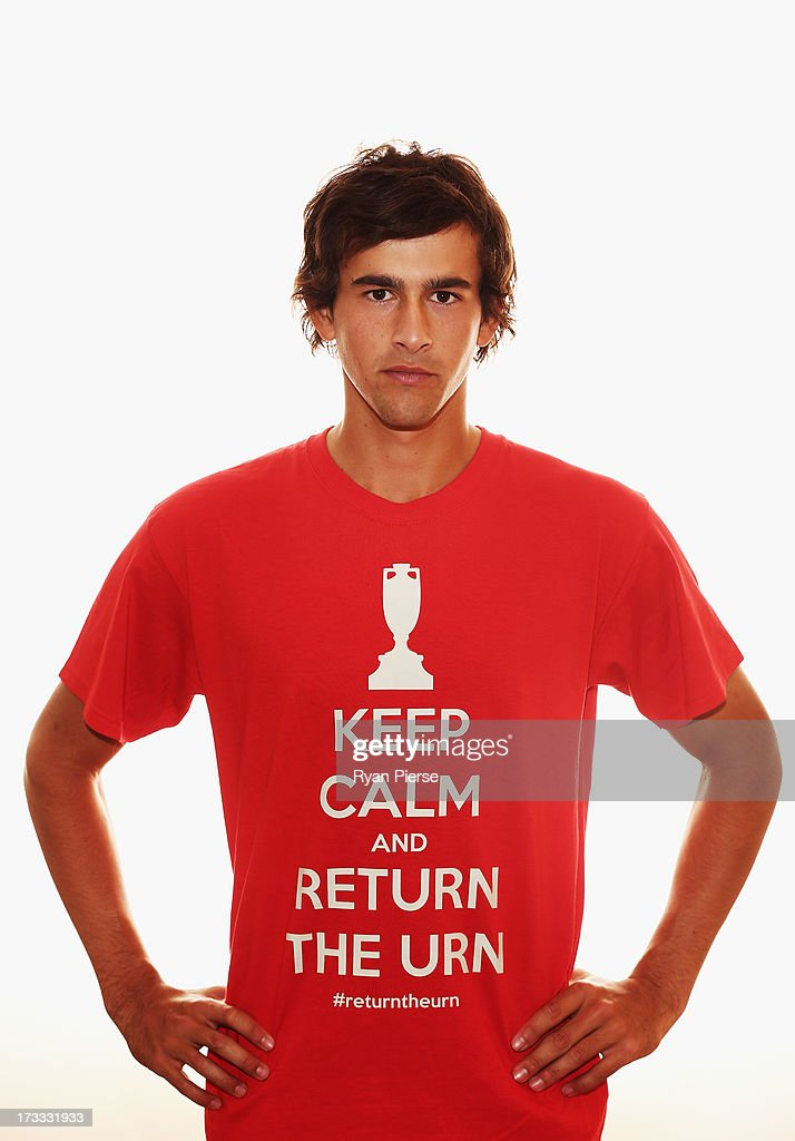 <a gi-track='captionPersonalityLinkClicked' href=/galleries/search?phrase=Ashton+Agar&family=editorial&specificpeople=9101391 ng-click='$event.stopPropagation()'>Ashton Agar</a> of Australia poses on July 9, 2013 in Nottingham, England.