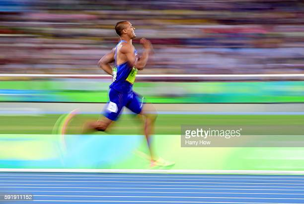 Ashton Eaton of the United States competes in the 1500 meter of the decathalon to a gold medal at Olympic Stadium on August 18 2016 in Rio de Janeiro...