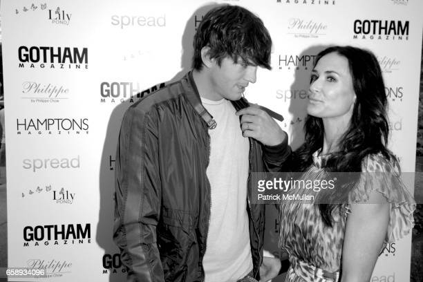 Ashton Kutcher and Demi Moore attend 'SPREAD' Premiere with GOTHAM HAMPTONS magazines at UA East Hampton Theater on August 8 2009 in East Hampton NY