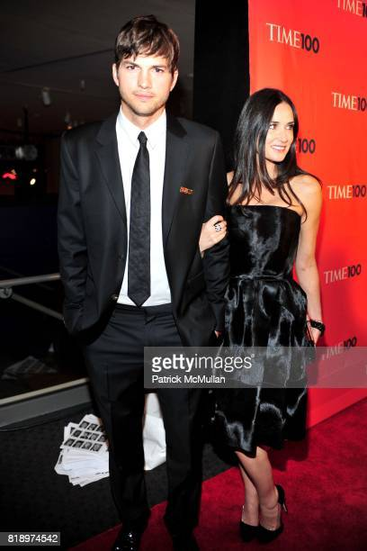 Ashton Kutcher and Demi Moore attend TIME 100 at Frederick P Rose Hall on May 4 2010 in New York City