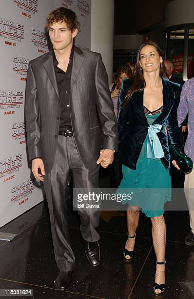 Ashton Kutcher and Demi Moore during 'Charlie's Angels Full Throttle' New York City Premiere at Loews Lincoln Square in New York City New York United...