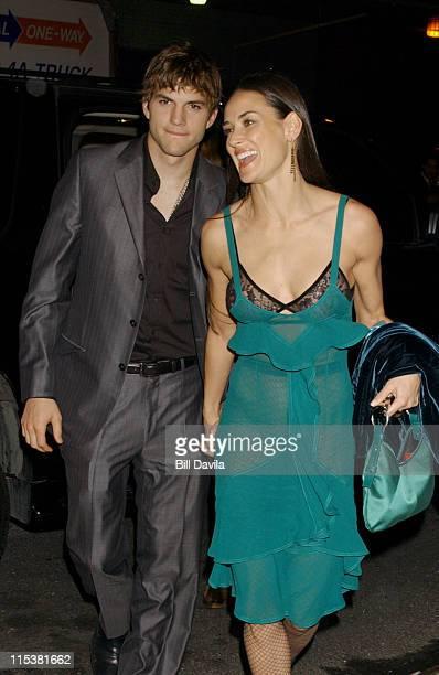 Ashton Kutcher and Demi Moore during 'Charlie's Angels Full Throttle' New York City Premiere After Party at Eye Beam in New York City New York United...