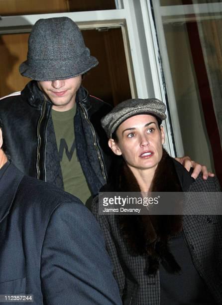 Ashton Kutcher and Demi Moore during Demi Moore and Ashton Kutcher Sighting in New York Ctiy at Streets of Manhattan in New York City New York United...