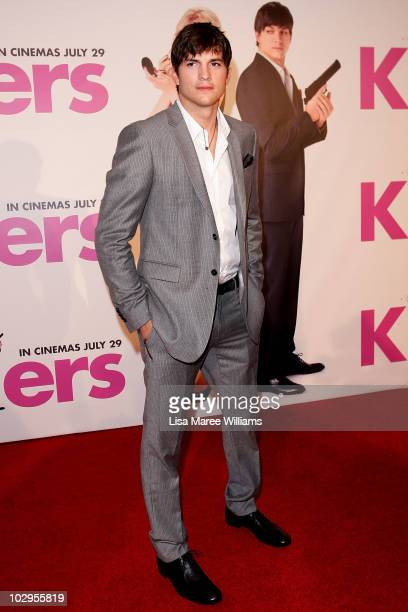 Ashton Kutcher arrives at the 'Killers' premiere at Event Cinemas George Street on July 18 2010 in Sydney Australia