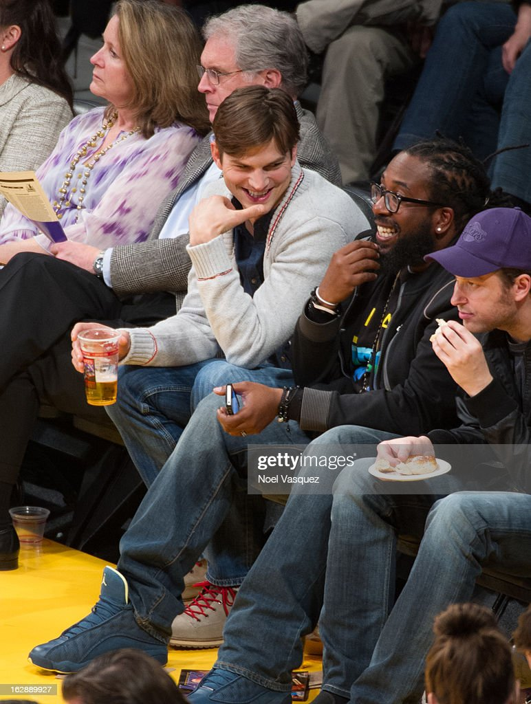<a gi-track='captionPersonalityLinkClicked' href=/galleries/search?phrase=Ashton+Kutcher&family=editorial&specificpeople=202015 ng-click='$event.stopPropagation()'>Ashton Kutcher</a> attends a basketball game between the Minnesota Timberwolves and Los Angeles Lakers at Staples Center on February 28, 2013 in Los Angeles, California.