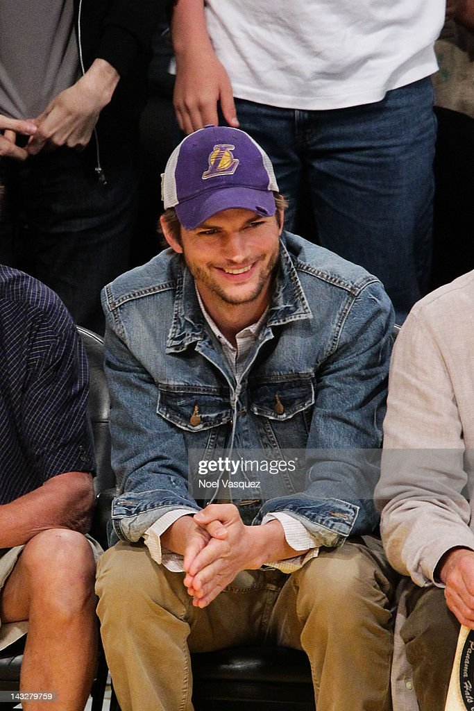 <a gi-track='captionPersonalityLinkClicked' href=/galleries/search?phrase=Ashton+Kutcher&family=editorial&specificpeople=202015 ng-click='$event.stopPropagation()'>Ashton Kutcher</a> attends a basketball game between the Oklahoma City Thunder and the Los Angeles Lakers at Staples Center on April 22, 2012 in Los Angeles, California.