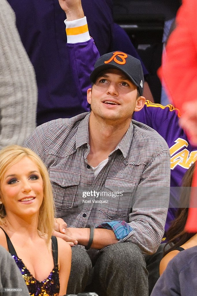 <a gi-track='captionPersonalityLinkClicked' href=/galleries/search?phrase=Ashton+Kutcher&family=editorial&specificpeople=202015 ng-click='$event.stopPropagation()'>Ashton Kutcher</a> attends a basketball game between the San Antonio Spurs and the Los Angeles Lakers at Staples Center on November 13, 2012 in Los Angeles, California.