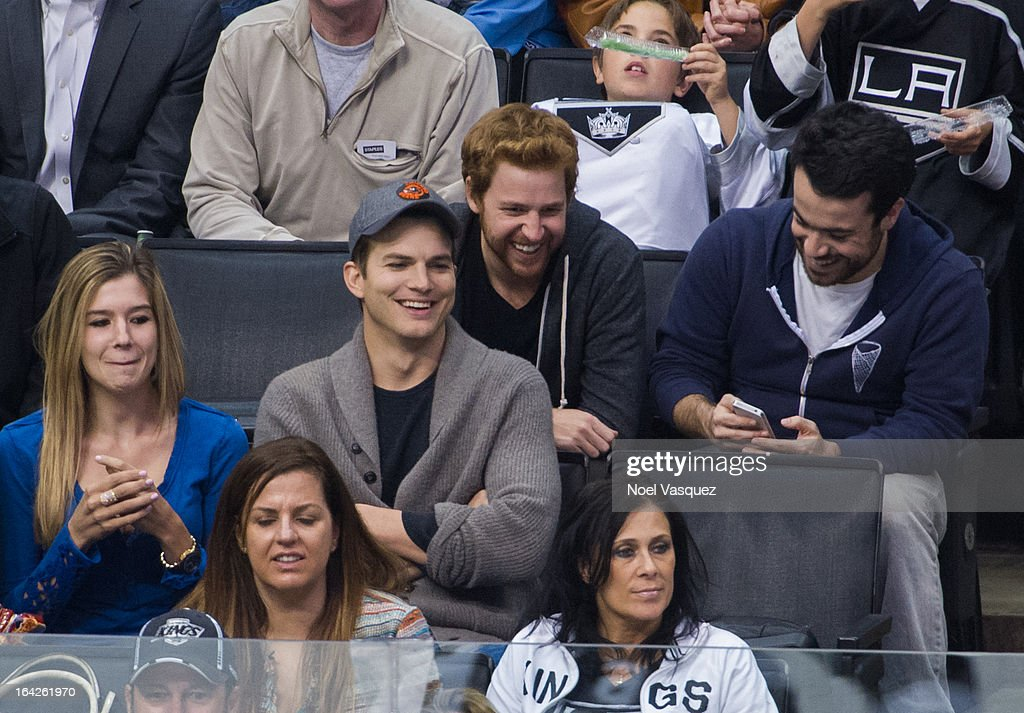 <a gi-track='captionPersonalityLinkClicked' href=/galleries/search?phrase=Ashton+Kutcher&family=editorial&specificpeople=202015 ng-click='$event.stopPropagation()'>Ashton Kutcher</a> attends a hockey game between the Dallas Stars and the Los Angeles Kings at Staples Center on March 21, 2013 in Los Angeles, California.