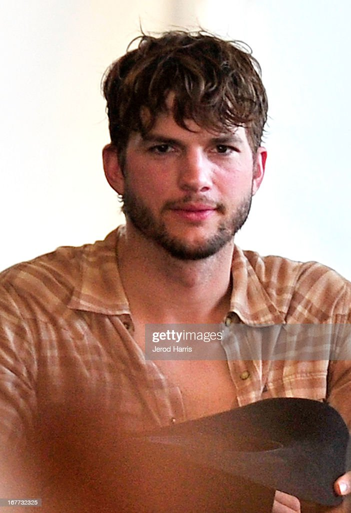 Ashton Kutcher attends the 2013 Stagecoach Country Music Festival at The Empire Polo Club on April 28, 2013 in Indio, California.