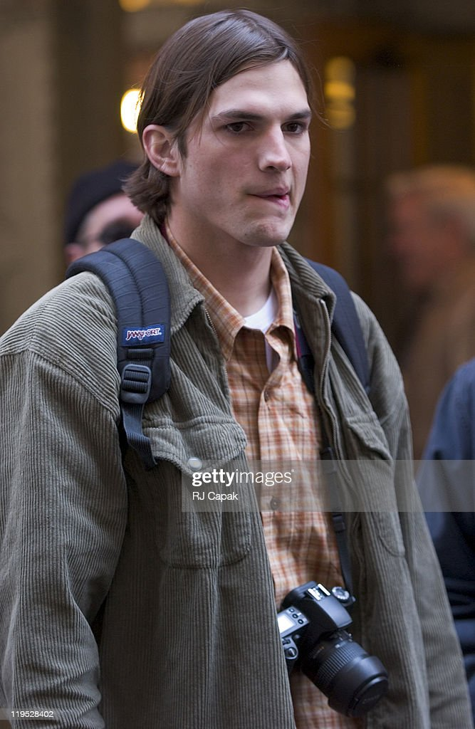 <a gi-track='captionPersonalityLinkClicked' href=/galleries/search?phrase=Ashton+Kutcher&family=editorial&specificpeople=202015 ng-click='$event.stopPropagation()'>Ashton Kutcher</a> during Filming of 'A Lot Like Love' On The Streets Of Manhattan at Grand Central Station & Sara D. Roosevelt Park in New York City, New York, United States.
