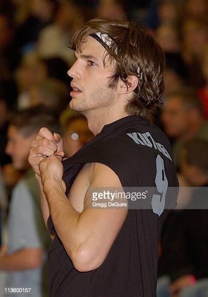 Ashton Kutcher during Frankie Muniz Hosts 'HoopLA' a Celebrity Basketball Game Which Benefits The Starlight Children's Foundation at Crossroads...