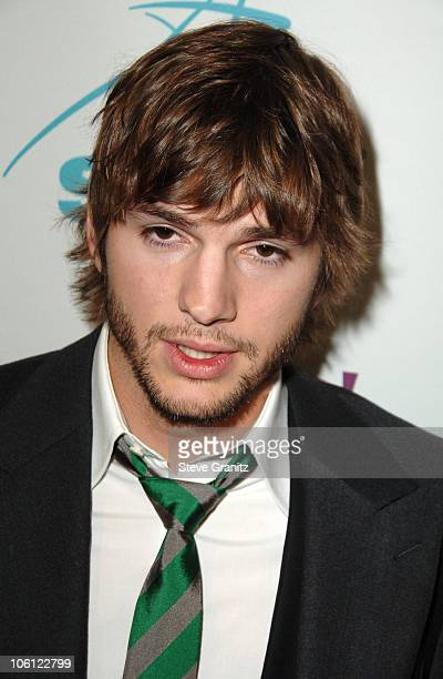 Ashton Kutcher during Hollywood Film Festival 10th Annual Hollywood Awards Press Room at The Beverly Hilton Hotel in Beverly Hills California United...