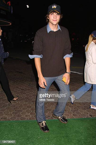 Ashton Kutcher during 'Summer Catch' Premiere at Mann's Village Theater in Westwood California United States