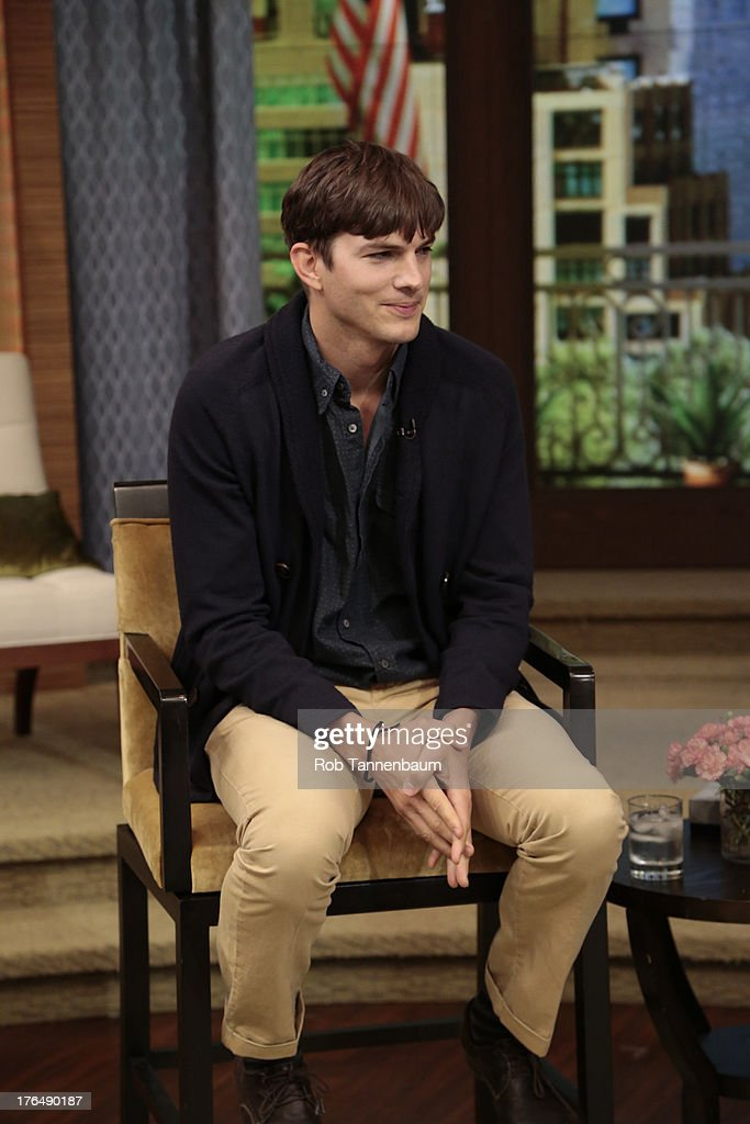 MICHAEL -8/9/13 - Ashton Kutcher is a guest on 'LIVE with Kelly and Michael,' distributed by Disney-ABC Domestic Television. ASHTON