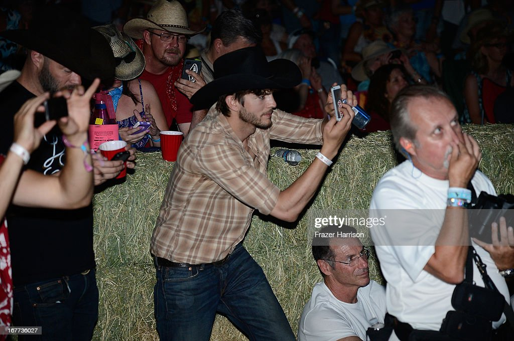Ashton Kutcher is seen during 2013 Stagecoach: California's Country Music Festival held at The Empire Polo Club on April 28, 2013 in Indio, California.