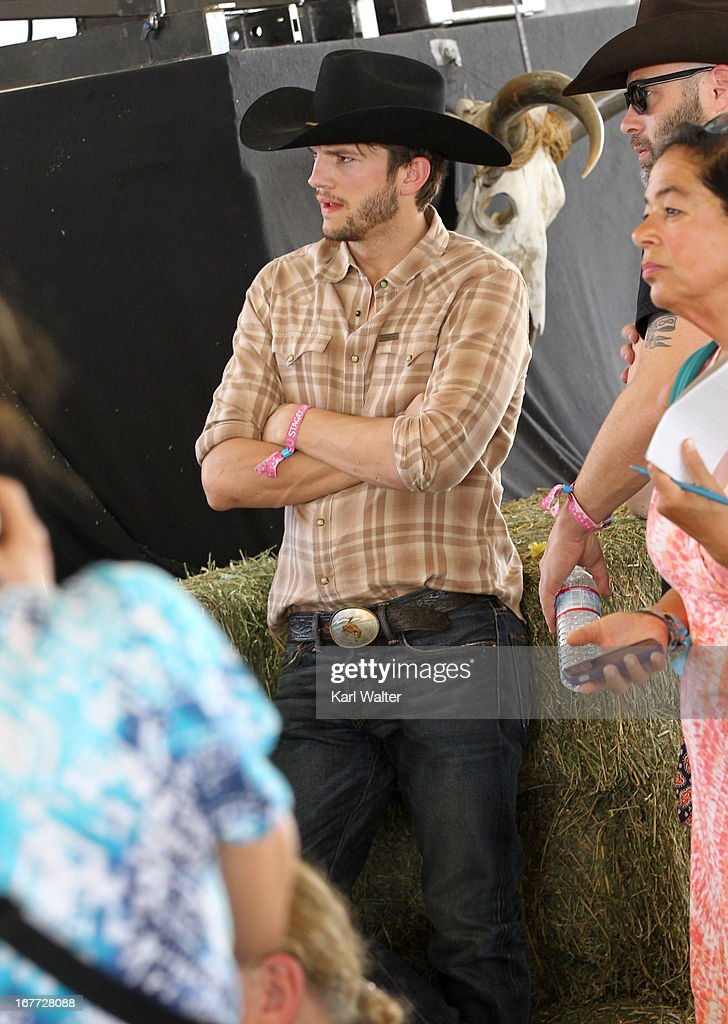 Ashton Kutcher is seen durring 2013 Stagecoach: California's Country Music Festival held at The Empire Polo Club on April 28, 2013 in Indio, California.
