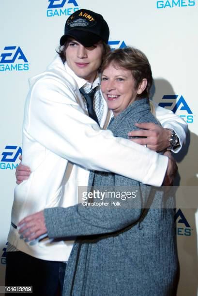 Ashton Kutcher Mom Diane during EA Games Launch Party at Raleigh Studios in Hollywood CA United States