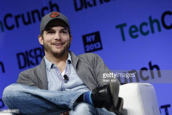 Ashton Kutcher of AGrade speaks onstage at TechCrunch Disrupt NY 2013 at The Manhattan Center on May 1 2013 in New York City