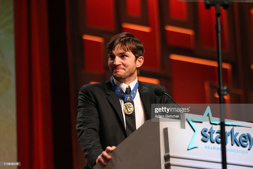 <a gi-track='captionPersonalityLinkClicked' href=/galleries/search?phrase=Ashton+Kutcher&family=editorial&specificpeople=202015 ng-click='$event.stopPropagation()'>Ashton Kutcher</a> presents at the 2013 Starkey Hearing Foundation's 'So the World May Hear' Awards Gala on July 28, 2013 in St. Paul, Minnesota.