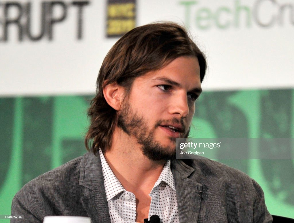 Ashton Kutcher speaks during the TechCrunch Disrupt New York May 2011 at Pier 94 on May 24, 2011 in New York City.