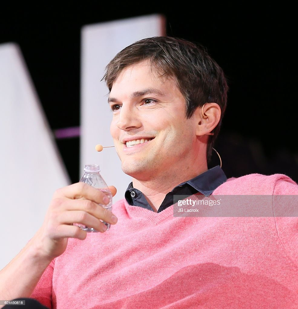 Ashton Kutcher speaks onstage at the 3rd Annual Airbnb Open Spotlight at The Orpheum on November 19, 2016 in Los Angeles, California.
