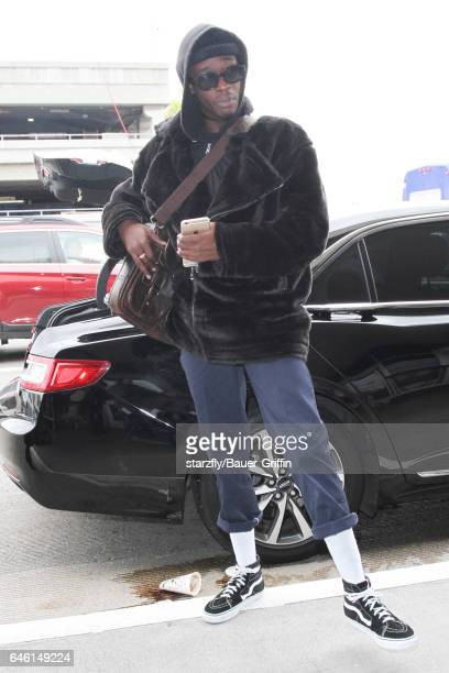 Ashton Sanders is seen at LAX on February 27 2017 in Los Angeles California