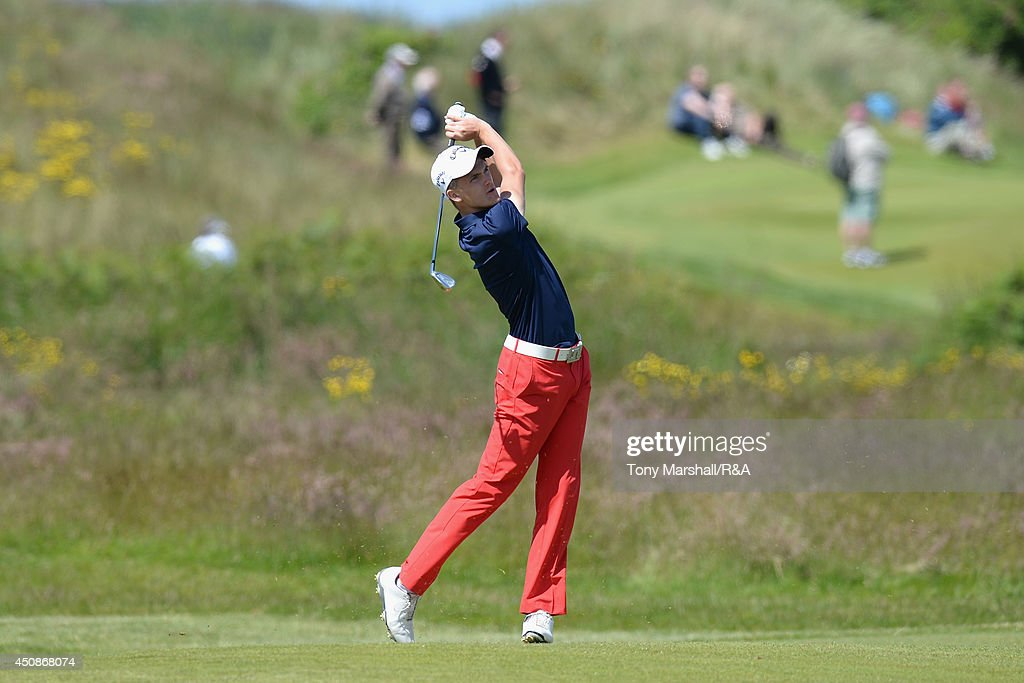 Ashton Turner of Kenwick Park Golf club during The Amateur Championship 2014 Day Four at Royal Portrush Golf Club on June 19 2014 in Portrush...