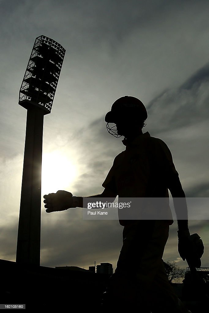 Ashton Turner of the Warriors walks from the field after being dismissed during the Ryobi One Day Cup match between the Western Australia Warriors and the Tasmanian Tigers at the WACA on February 19, 2013 in Perth, Australia.