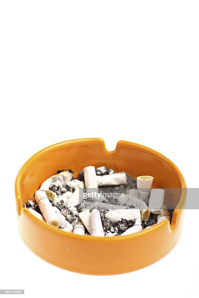 Ashtray and cigarettes : Stock Photo