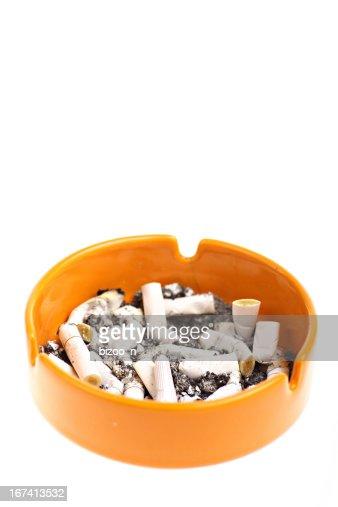 Ashtray and cigarettes : Stock Photo
