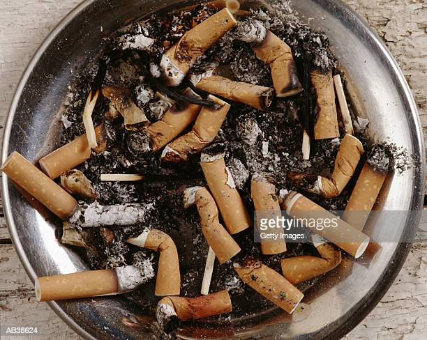 Ashtray filled with cigarettes