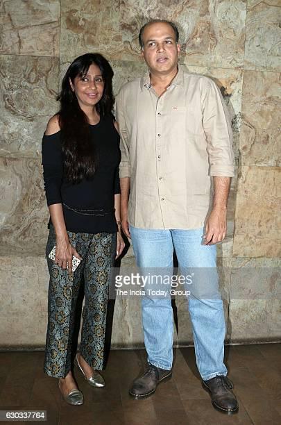 Ashutosh Gowariker along with wife Sunita Gowariker during the special screening of film Dangal in Mumbai