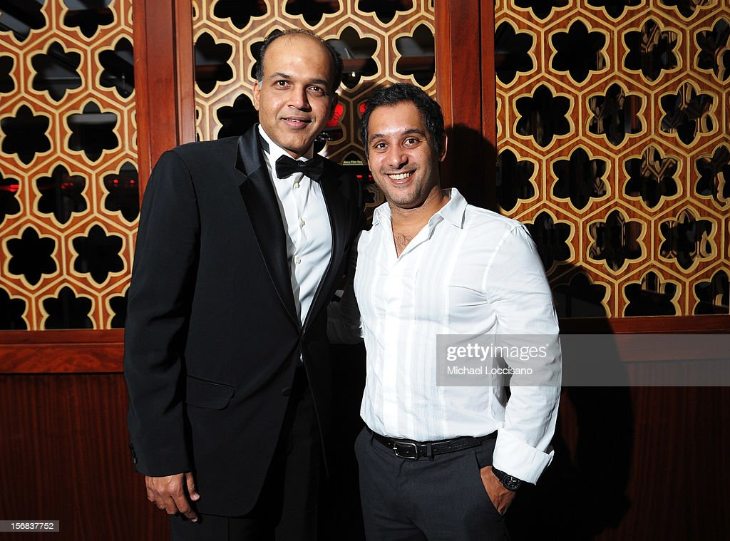 Ashutosh Gowariker and Ahmed El Sherif attend the Awards After Party during 2012 Doha Tribeca Film Festival at W Hotel on November 22, 2012 in Doha, Qatar.