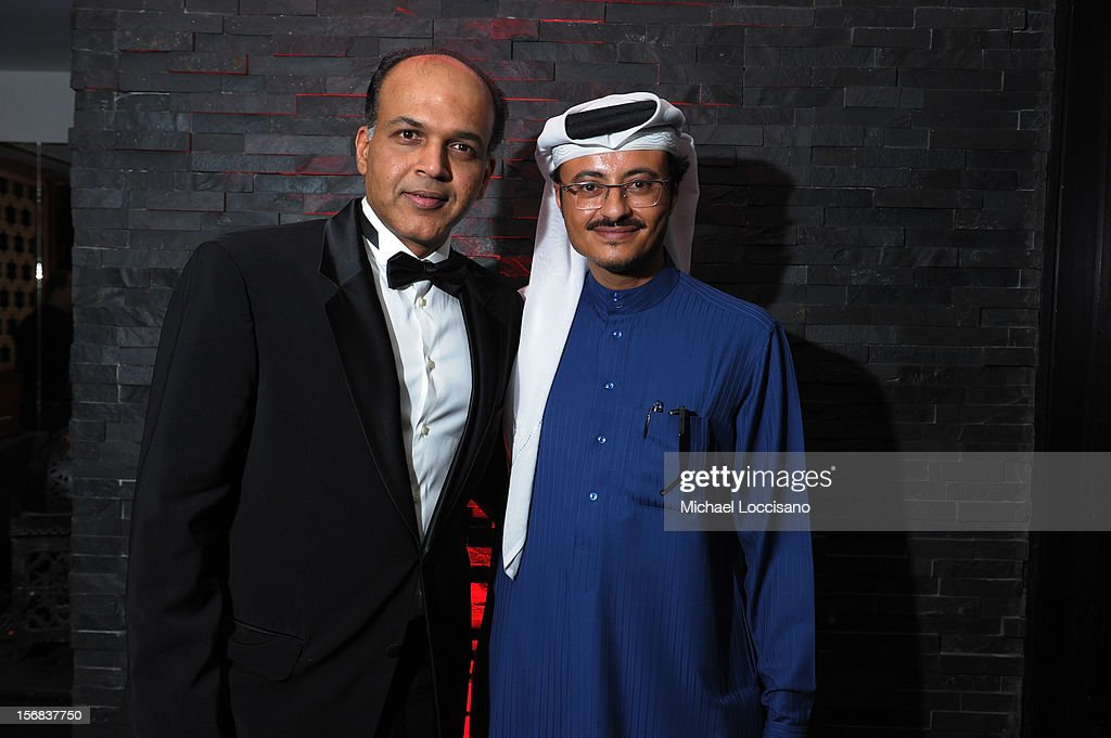 Ashutosh Gowariker and Doha Film Institute CEO Abdulaziz Bin Khalid Al-Khater attend the Awards After Party during 2012 Doha Tribeca Film Festival at W Hotel on November 22, 2012 in Doha, Qatar.