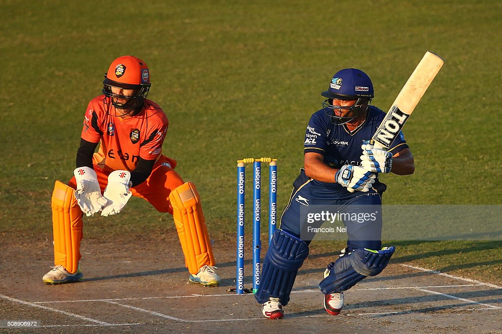 <a gi-track='captionPersonalityLinkClicked' href=/galleries/search?phrase=Ashwell+Prince&family=editorial&specificpeople=649580 ng-click='$event.stopPropagation()'>Ashwell Prince</a> of Capricorn bats during the Oxigen Masters Champions League match between Virgo Super Kings and Capricorn Commanders on February 7, 2016 in Sharjah, United Arab Emirates.