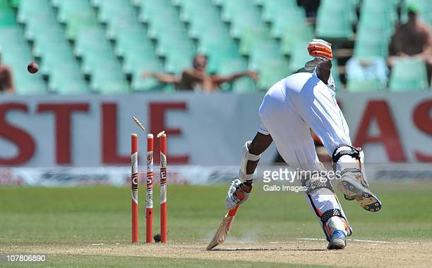 Ashwell Prince of South Africa run out to give India the win by 87 runs during day 4 of the 2nd Test match between South Africa and India at Sahara...