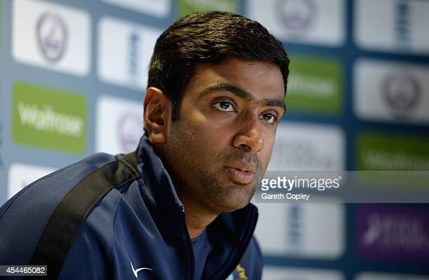 Ashwin of India speaks to the media during a press conference at Edgbaston on September 1 2014 in Birmingham England