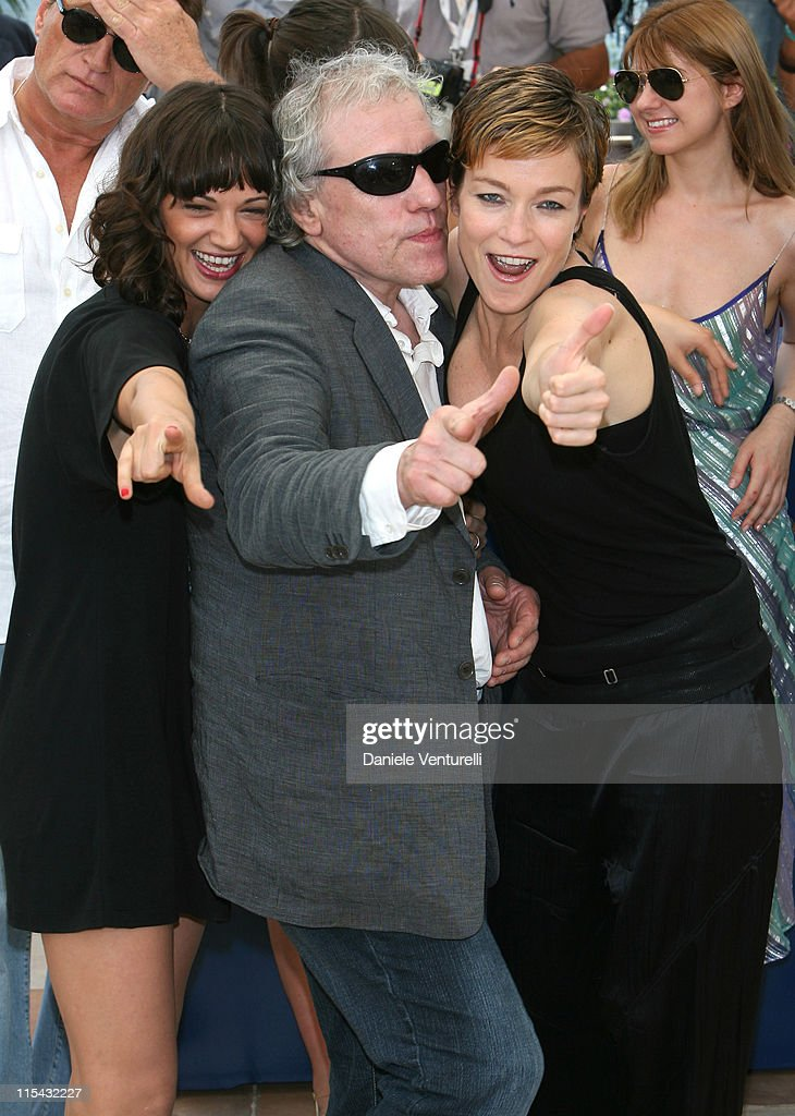 Asia Argento Abel Ferara and Stefania Rocca during 2007 Cannes Film Festival 'Go Go Tales' Photocall at Palais des Festivals in Cannes France